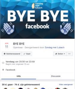 Bye Bye Facebook event