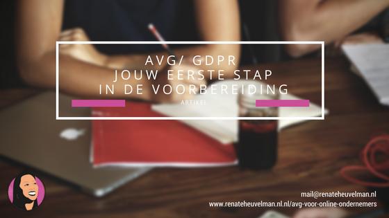 AVG – de eerste voorbereidingsstap